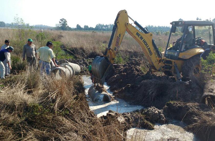 Obras de recuperación en áreas rurales