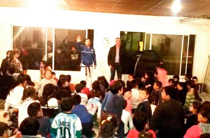 Chavez inauguró una Escuela de Taekwondo en el barrio sur