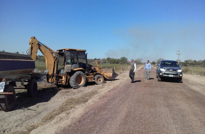 Comenzaron las obras de enripiado de la Ruta 100