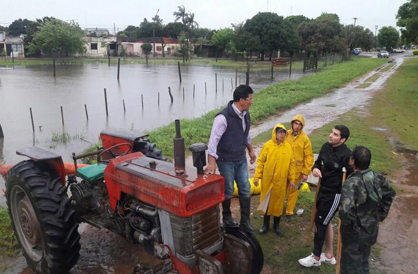 Las lluvias agravan el panorama de inundaciones en Bella Vista