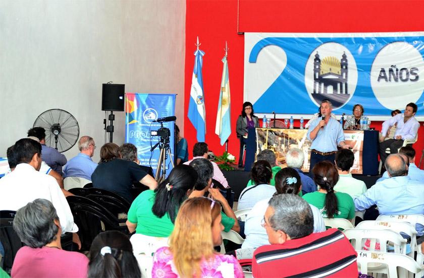 Chavez expuso en Goya sobre obras integrales de desagüe