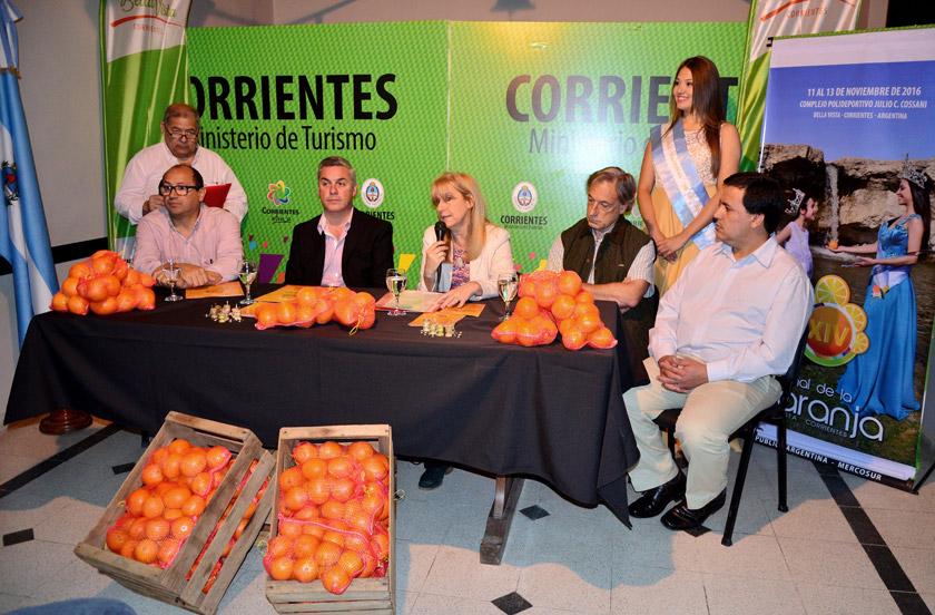 Lanzaron en Corrientes la 14º Fiesta Nacional de la Naranja