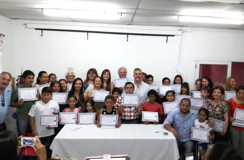 Entregaron Certificados del programa TIC´s 2016