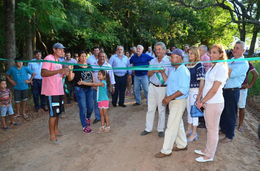Colombi inauguró obras en Tres de Abril