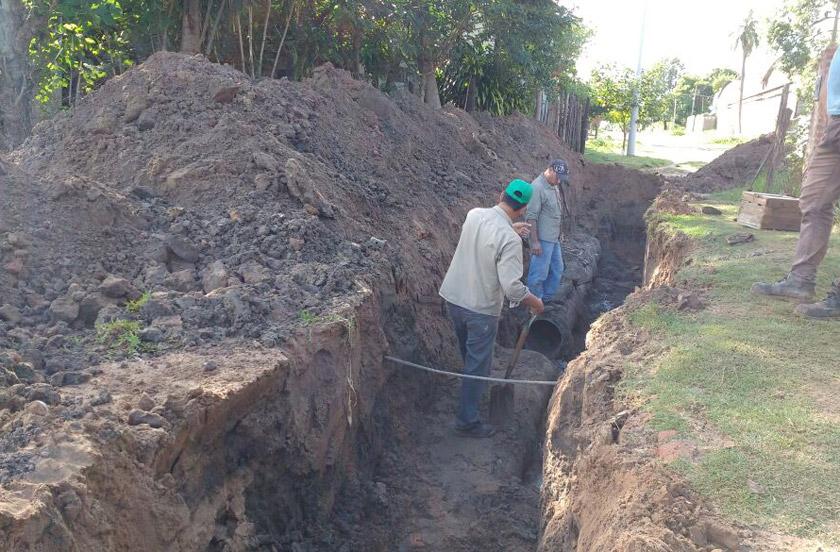 Infraestructura con mejoras en redes pluviales y caminos