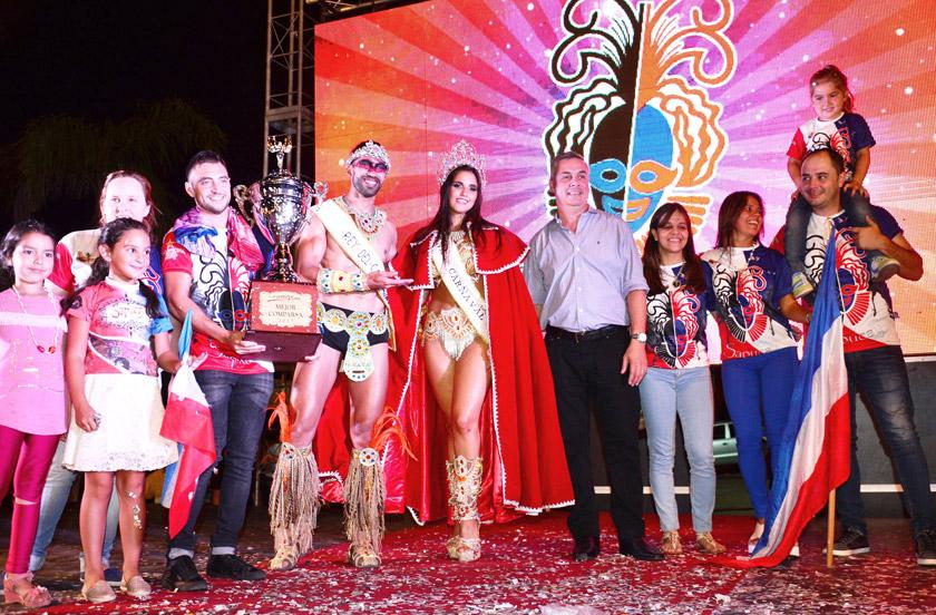 El carnaval de Bella Vista tiene nuevos soberanos