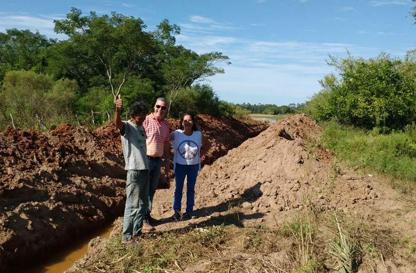 El municipio bellavistense continúa obras en desagües rurales