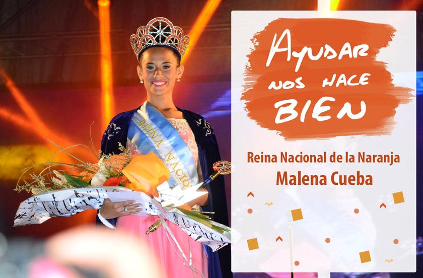 La reina nacional de la naranja encabeza una campaña solidaria