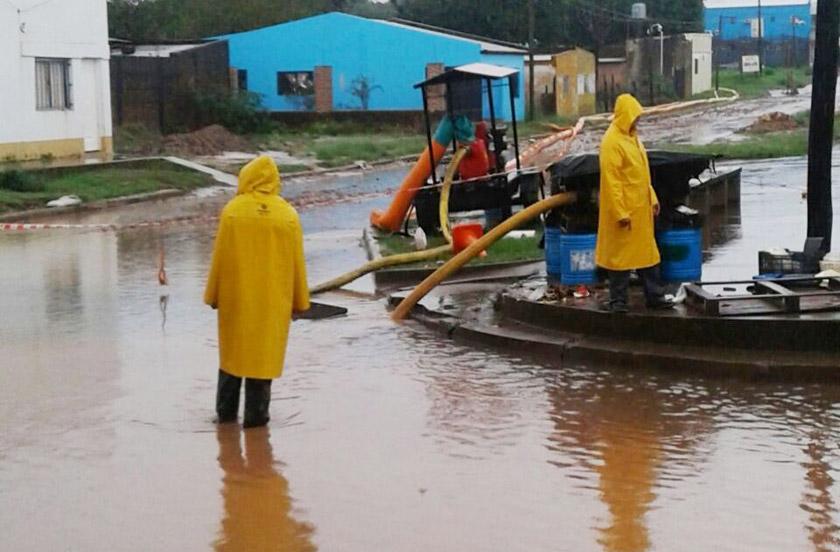 Infraestructura municipal destacó el trabajo ante las lluvias