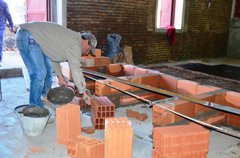 Avanzan obras edilicias en la Sociedad Italiana