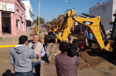 Obras de desagües integrales llegan al centro de Bella Vista