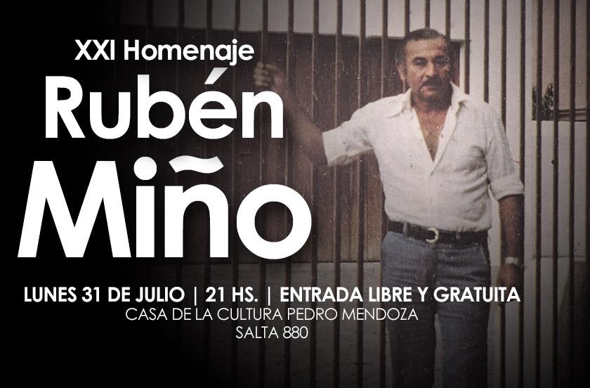 Preparan homenaje a Rubén Miño