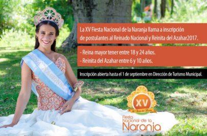 Bella Vista busca a su reina de la naranja 2017