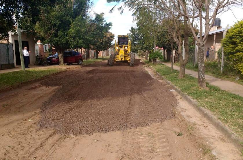 Infraestructura destacó mejoras viales en el barrio sur