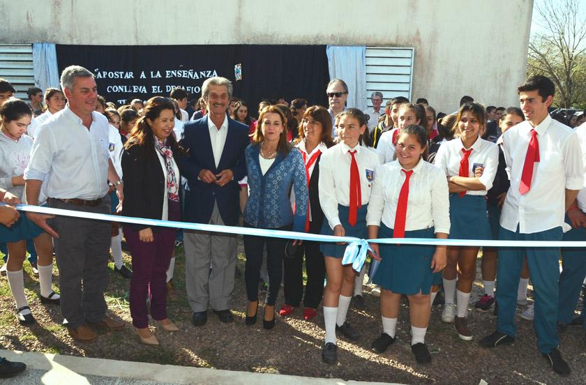 Inauguran ampliaciones en la Escuela Agrotécnica Tres de Abril