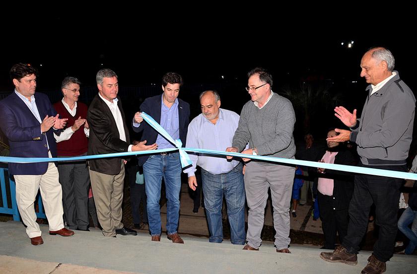 Inauguraron el primer tramo del sistema pluvial de Bella Vista