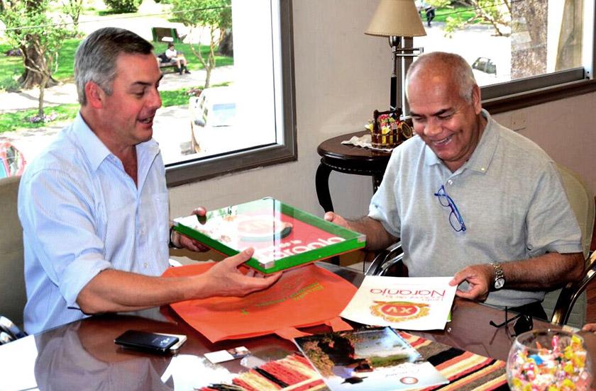 Chavez recibió al gobernador del Rotary 4845