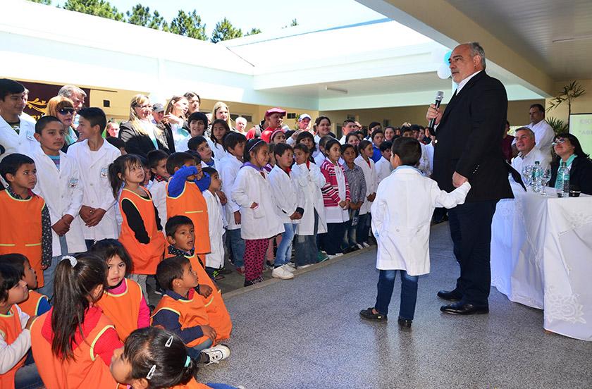 Colombi y Chavez con inauguraciones en Paraje Desmochado