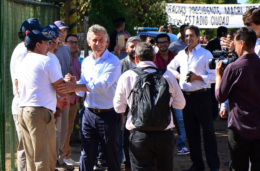 Chavez agradeció la visita del presidente