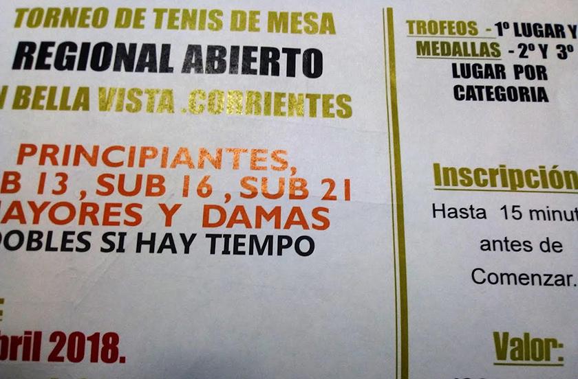 Anticipan detalles del Torneo Regional de Tenis de Mesa