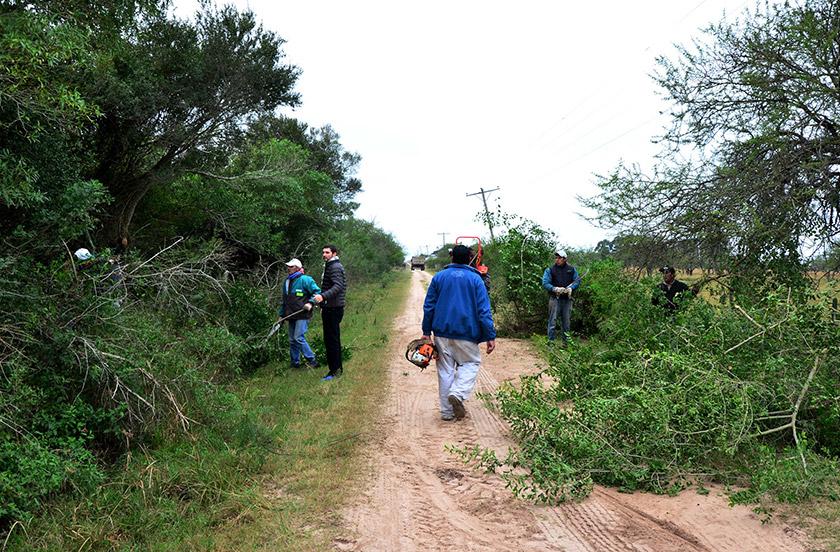 El municipio bellavistense con obras en Paraje Desmochado