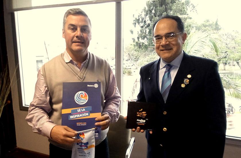 Chavez recibió al gobernador del Rotary Club