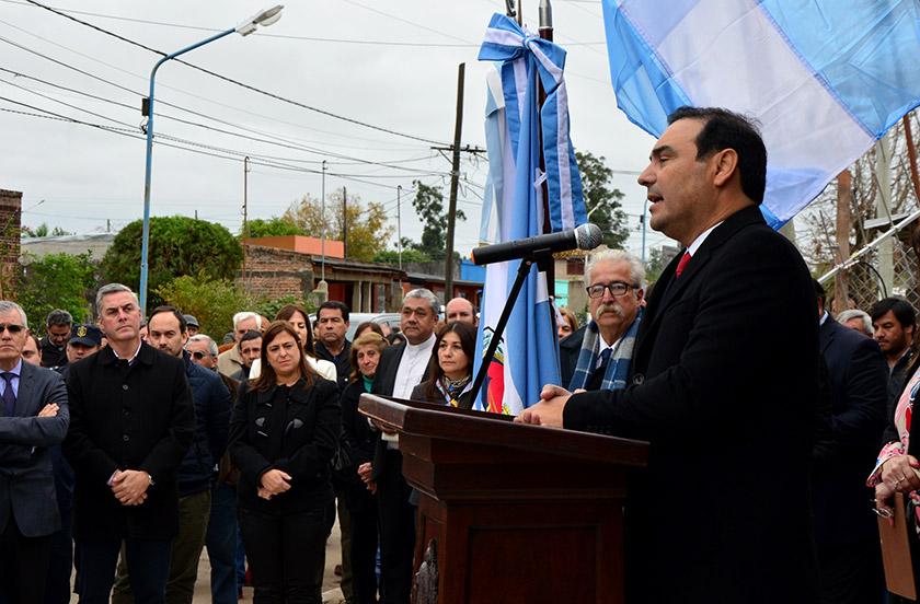 Chavez visitó oficialmente la localidad de Santa Lucía