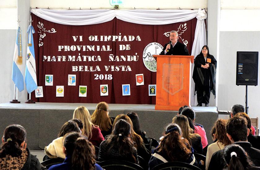 Inauguran la VI Olimpiada Provincial de Matemática