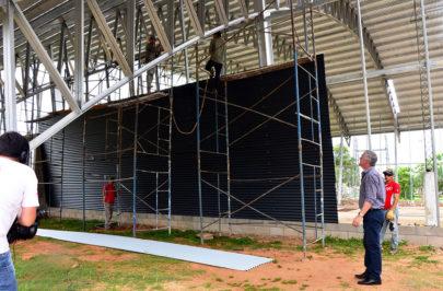Chavez mostró los avances en el Estadio Ciudad