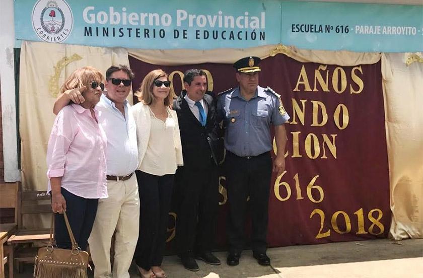 Festejos centenarios de la Escuela 616 de paraje Arroyito