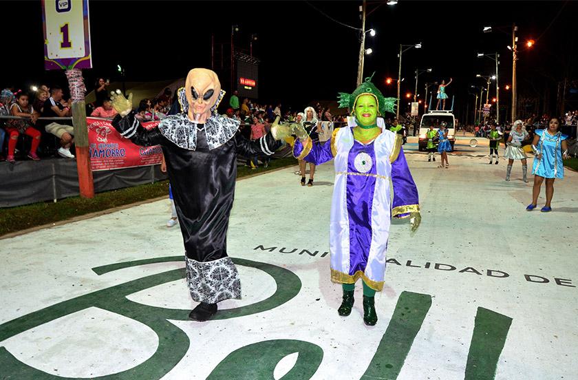 Agrupaciones barriales debutaron en el Carnaval de Bella Vista