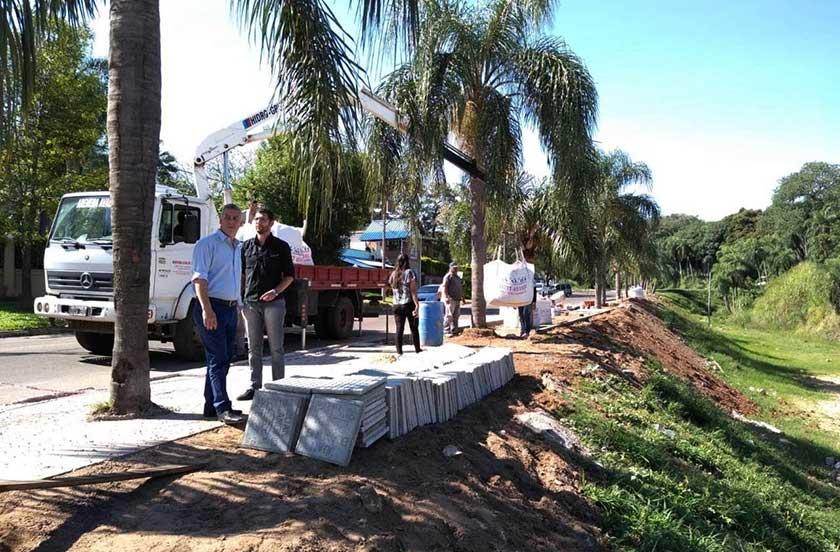 Obras públicas en el Paseo Costanera