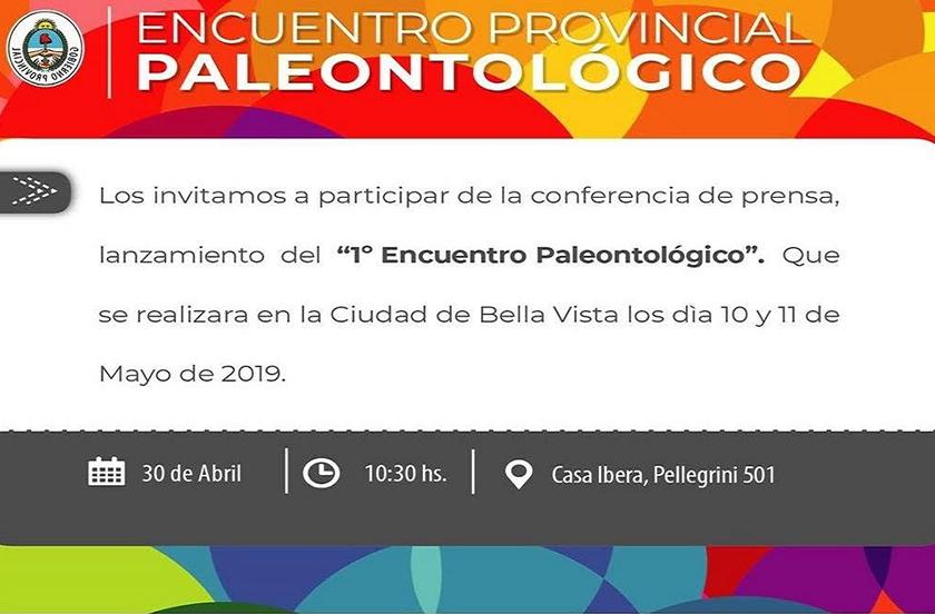 Presentarán en Corrientes el Encuentro Provincial de Paleontología