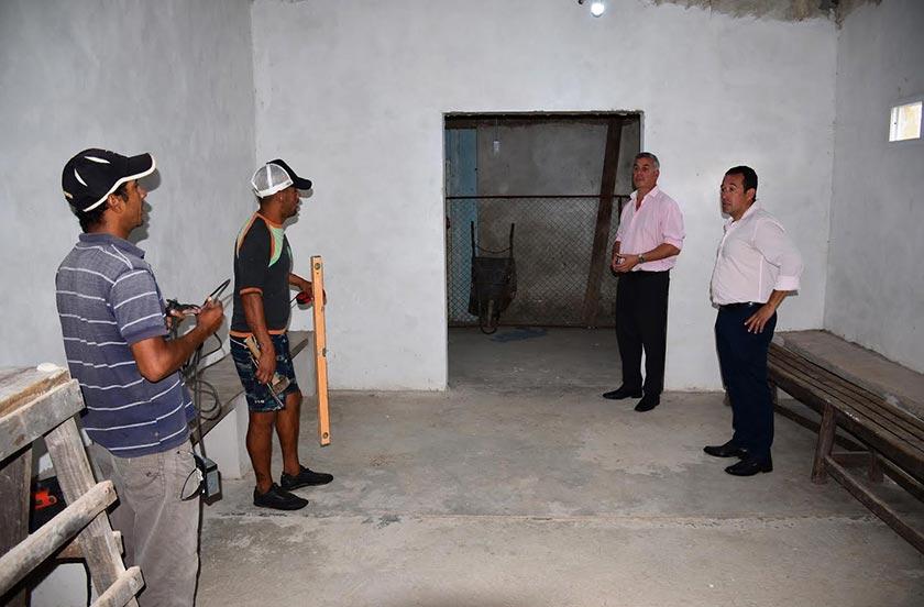 Chavez visitó la liga de fútbol