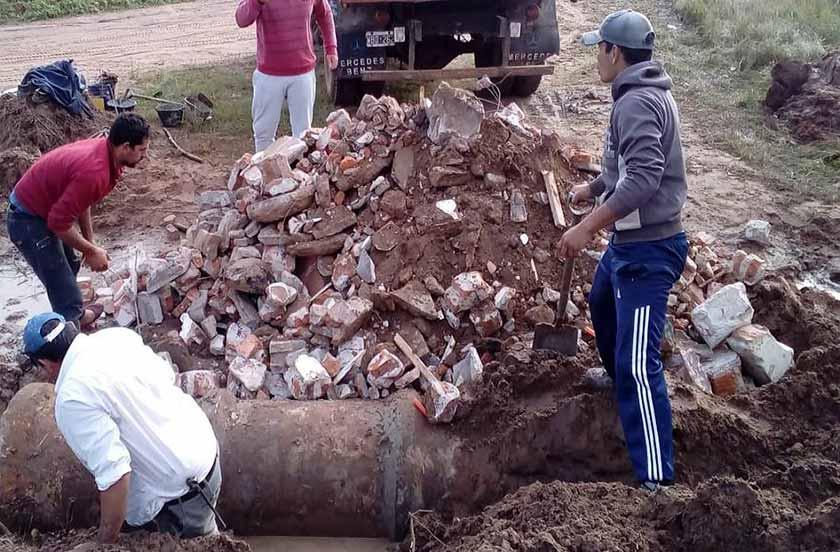 El municipio continúa con obras de desagües en zonas rurales