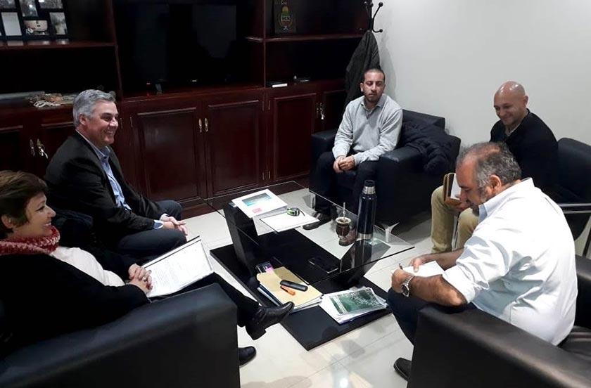 Autoridades de Bella Vista con el ministro Polich