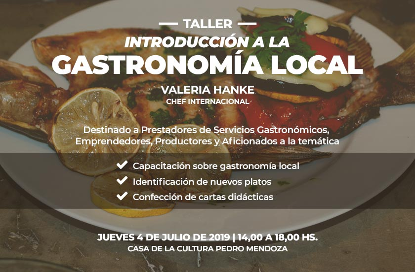 Inscriben para el Taller de Gastronomía Local