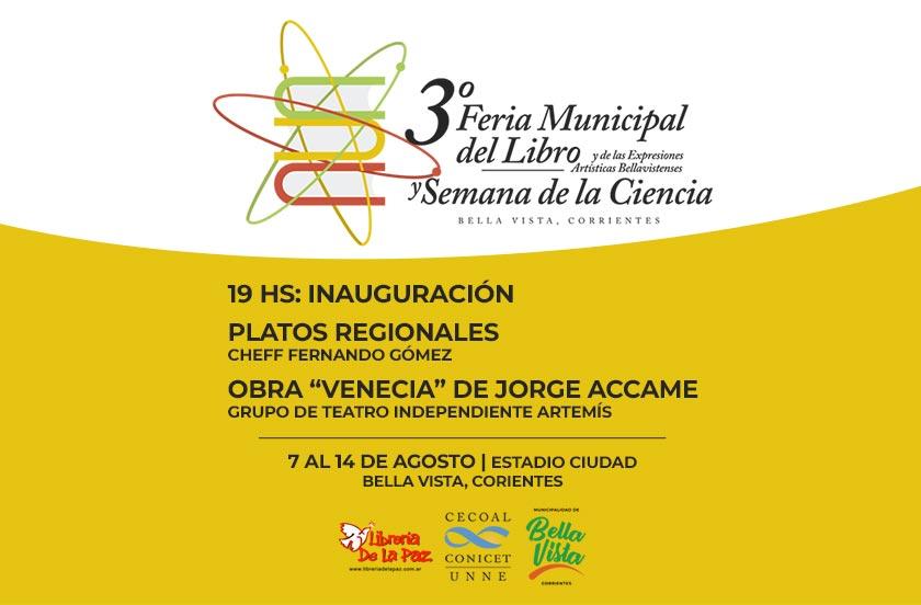 Programa de la 3° Feria del Libro y Semana de la Ciencia 2019