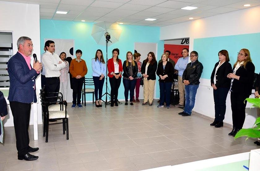 Chavez en la inauguración de Plenitud Club de Día