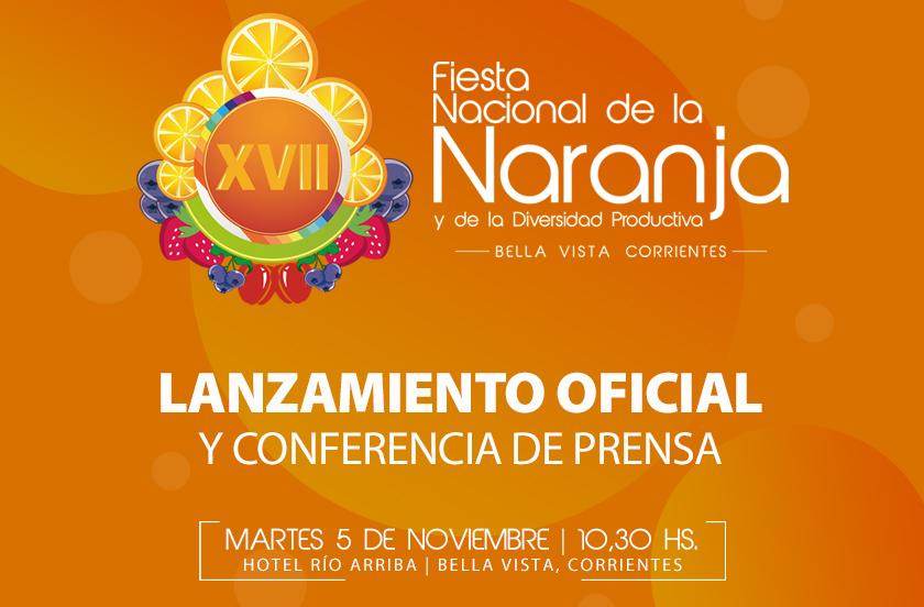 Presentan la XVII Fiesta Nacional de la Naranja