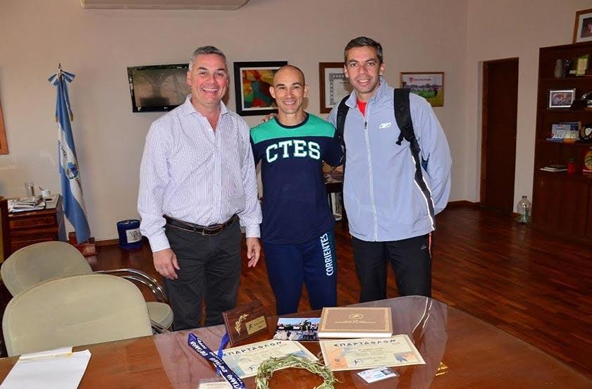 Chavez recibió al ultramaratonista Javier Zannino