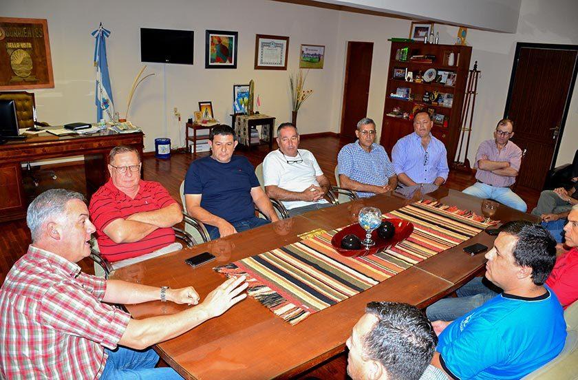 Citricultores con el intendente Chavez