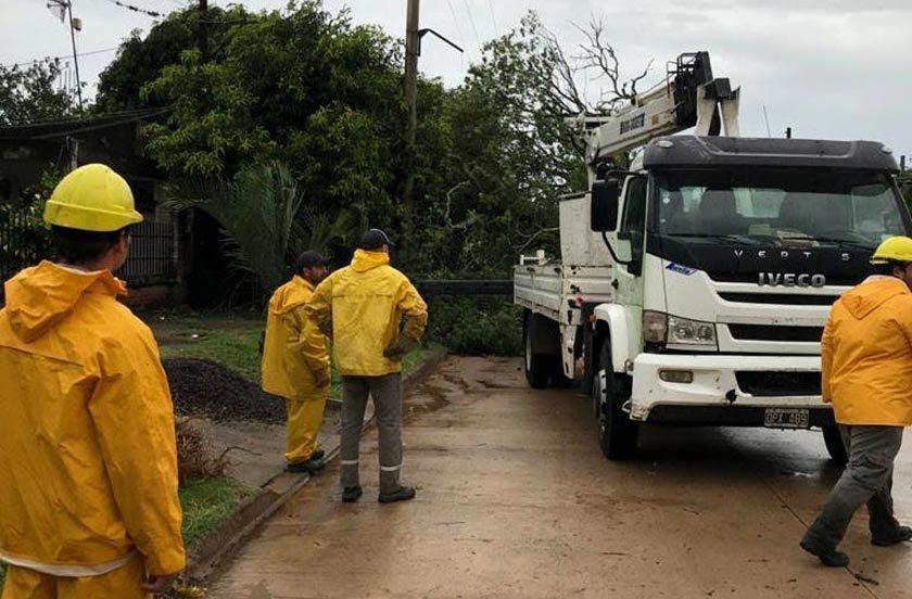 Tras la tormenta evalúan los daños en zonas rurales de Bella Vista