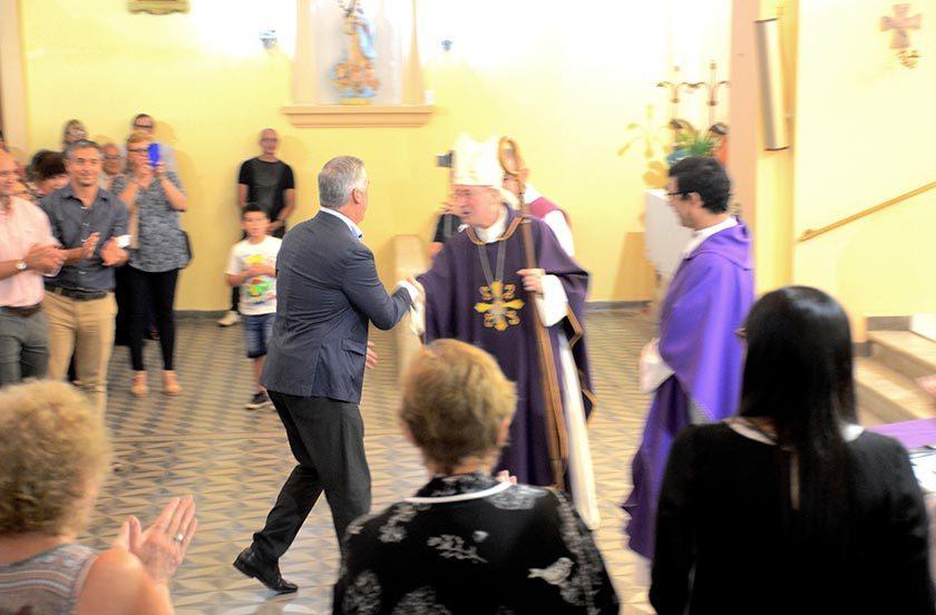 Monseñor Andrés Stanovnik visita Bella Vista