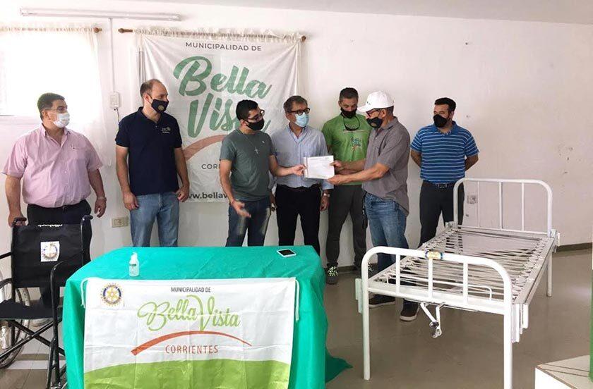 Municipio recibe donación del Rotary Club