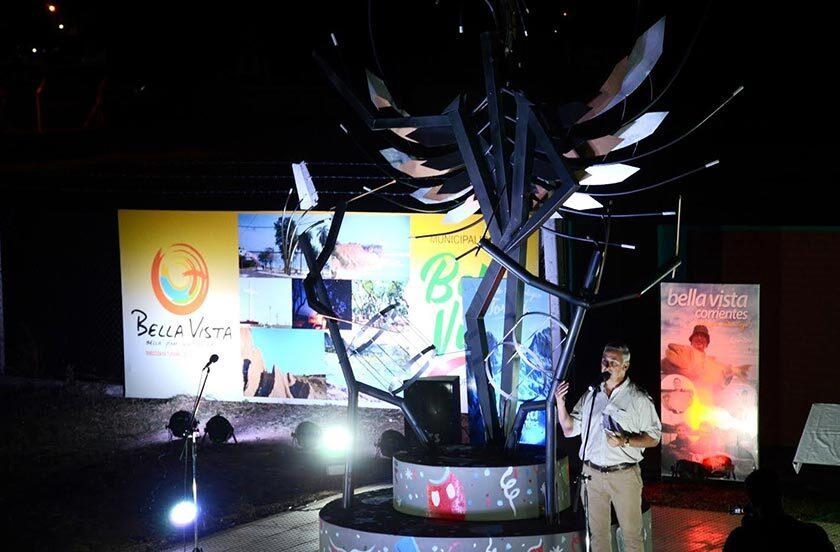 Inauguraron monumento al Carnaval Bellavistense