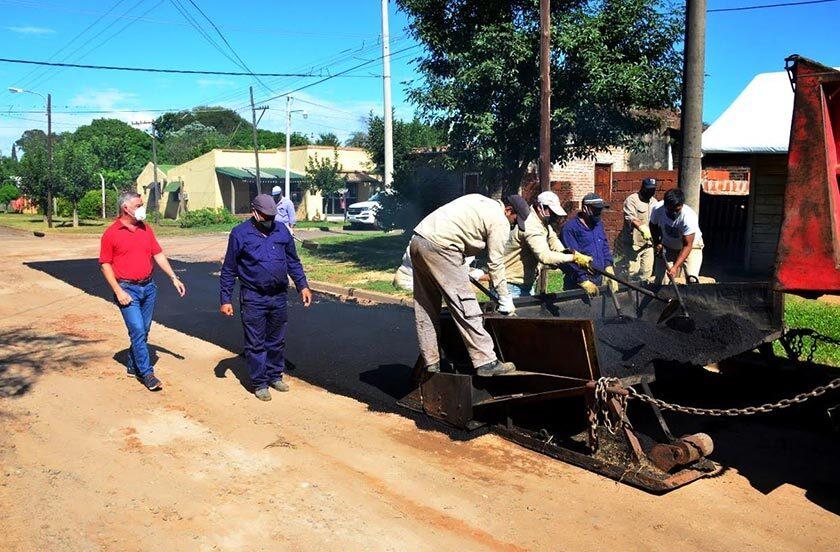 Comenzaron obras de asfalto