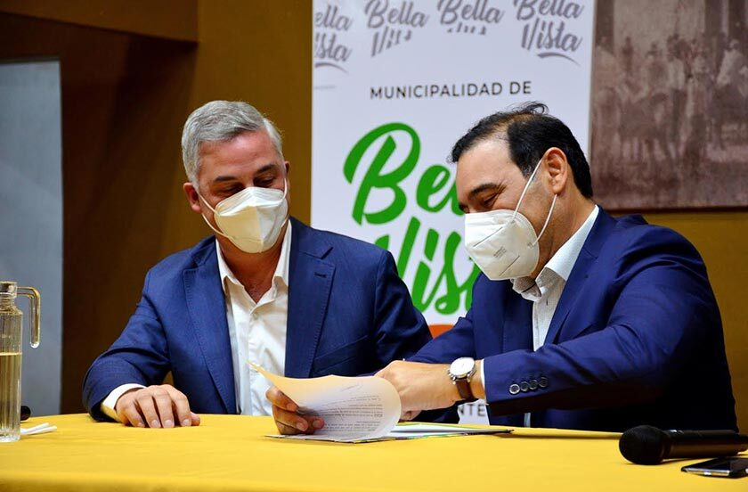 El gobernador Valdés en visita oficial a Bella Vista