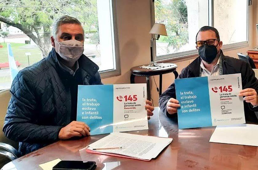 Chavez firmó convenio contra la Trata de Personas